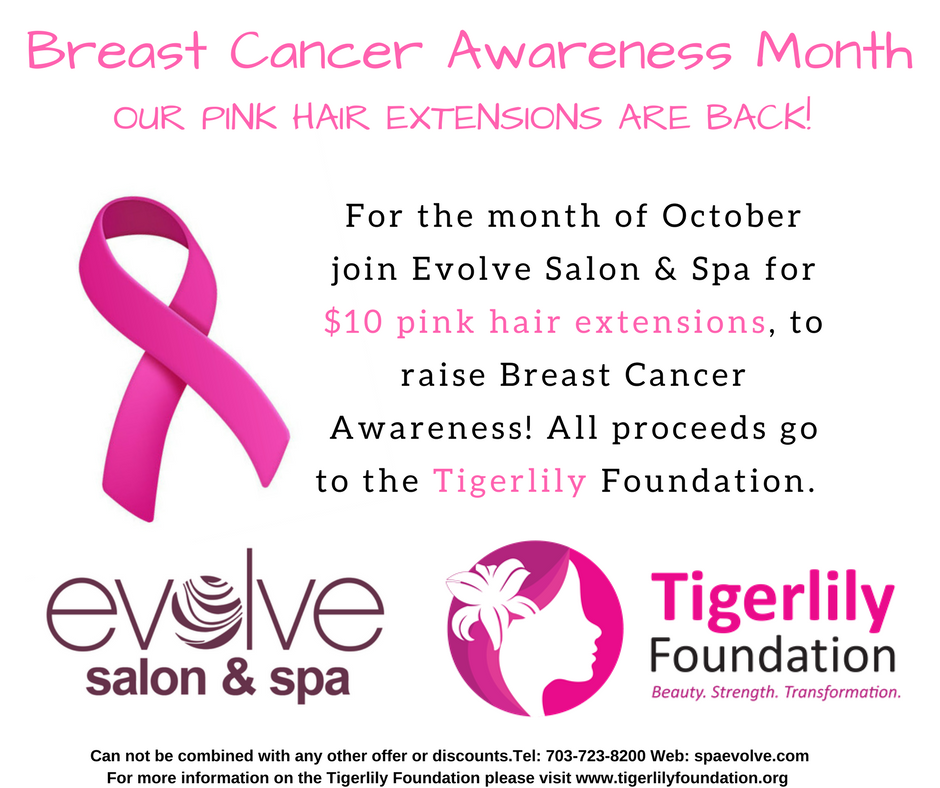 Evolve Salon and Spa Pink Hair Extension Fundraiser ...